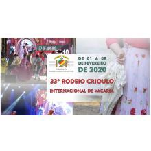 RODEIO INTERNACIONAL DE VACARIA 2020
