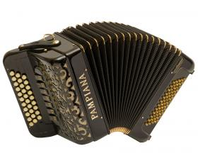 Acordeon PAMPIANA  Diatônica 60Bxs Gold Black